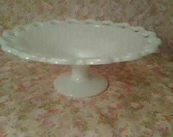 Vintage Anchor Hocking Milk Glass Compote