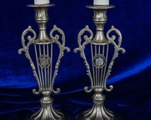High Holidays and Sabbath Candleholders...Unique and Antique Looking  Religious ornament!  #N 713