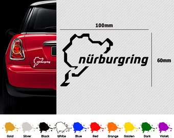 Nurburgring Decal Sticker x 2 Custom Made Car Design