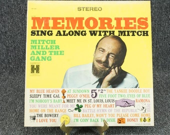 """Vintage 1967 Record """"Memories / Sing Along With Mitch"""", 33 1/3 RPM"""