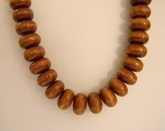 Pretty Brown Beaded Necklace