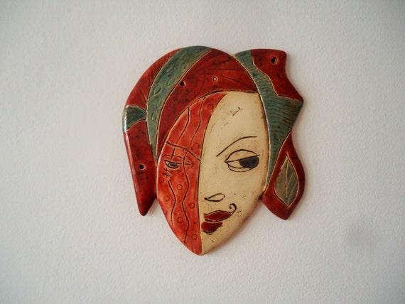 Eccentric Ceramic Mask Wall Art Ceramic Wall Art Day And