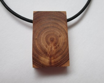 Wooden Necklace, Wooden Pendant