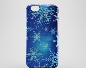 Snowflake Phone case,  iPhone X Case, iPhone 8 case,  iPhone 6s,  iPhone 7 Plus, IPhone SE, Galaxy S8 case, Phone cover, SS135a