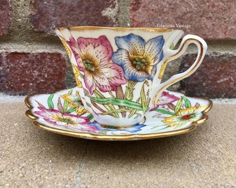 Vintage  Floral Rosina Tea Cup - Free Shipping