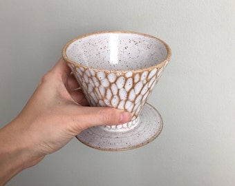 Made to Order | Tree Bark I white ceramic coffee pour over by MUD TO LIFE