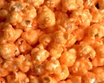 Orange Candy Coated Popcorn, Orange Flavored Popcorn, Orange Popcorn