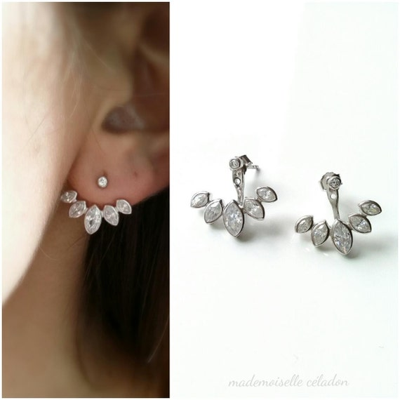 boucles d 39 oreilles sous lobes argent 925 ear cuff. Black Bedroom Furniture Sets. Home Design Ideas