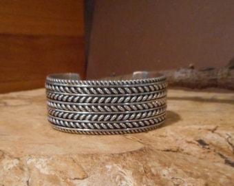 Authentic Tom Hawk Vintage Sterling Silver Bracelet 77.3 grams
