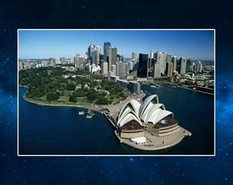 Sydney Opera House Fridge Magnet. Australia Travel Souvenir
