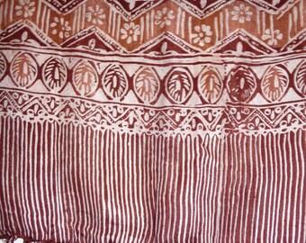 Brown silk scarf and dark ref.29