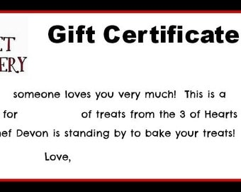3 of Hearts Pet Bakery Gift Certificate