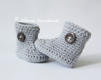 Crochet baby boots, Crochet baby booties, Crochet baby shoes, baby girl boots, baby boy boots, infant shoes, crochet newborn shoes,