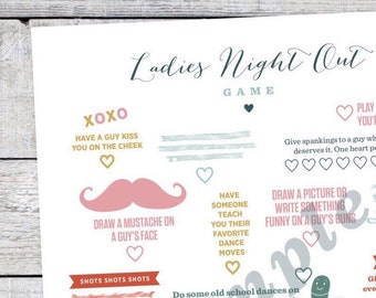 Ladies Night Out Game - Printable Instant Download