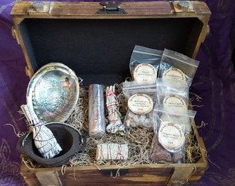 Large Spiritual Herb Box Kit, Spiritual Kit, Herbal Kit, Incense Kit, Healing Kit