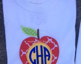 Monogrammed Apple Applique Shirt!