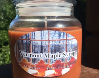 Vermont Maple Syrup Jar Candle -14.5 or 22 ounces