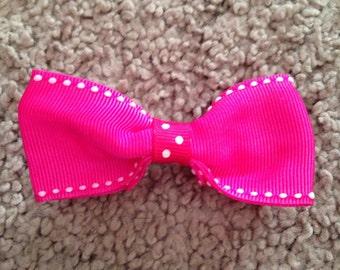 """3""""pink polka dot bow"""