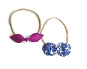 Liberty 'Amber' Bow Headband Set