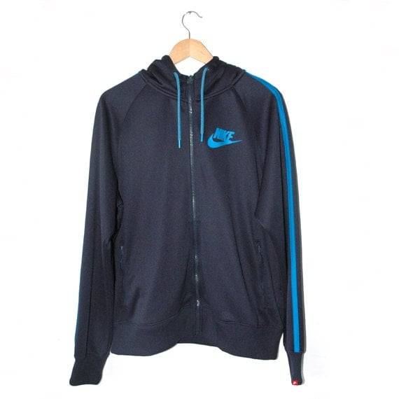 90s style Nike Blue Track top