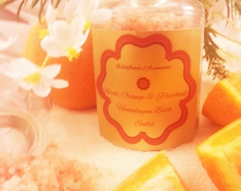100% Natural Neroli, Orange & Patchouli Bath Soak with Himalayan Salts and Coconut Oil