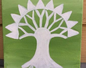 Magic The Gathering: Selesnya Guild Symbol Canvas Painting