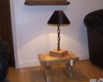 Reclaimed, recycled, industrial,modern, retro table lamp 50 cms