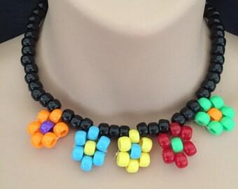 PLUR kandy Daisy festival necklace