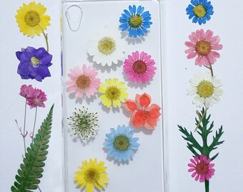clear LG G4 case, pressed flower lg g4 case, lg g4 case clear, pressed flower htc m9 case, flower m9 plus case, soft clear iphone 6s case