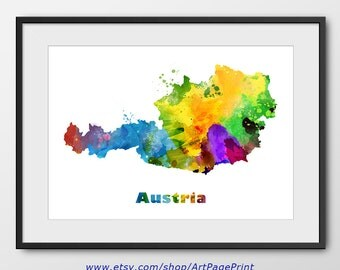 Austria Map Etsy - Austria map