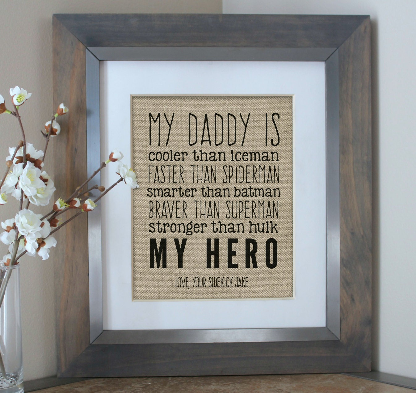 Gift for Dad from Kids My Daddy Is My Hero by EmmaAndTheBean