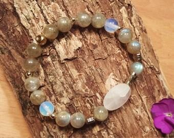 Labradorite & Rose Quartz EnerCHI Bracelet