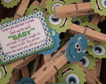 Monsters inc. baby shower game (don't say baby) 12pc