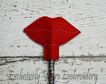 Lips Pencil Topper - Party Favor - Valentine - Classroom Prizes - I Love You - Be Mine - Happy V-Day - Small Gift - Back to School