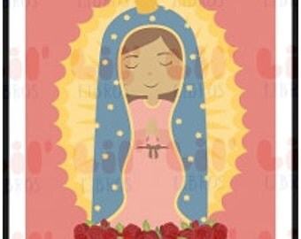 Lil' Guadalupe Themed Prints for Nursery, Baby Shower, or Birthday Party.