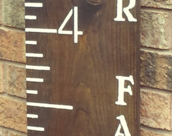 PERSONALIZED GROWTH CHART Rulers/Baby Shower Gift/Baptismal Gift/Family Ruler