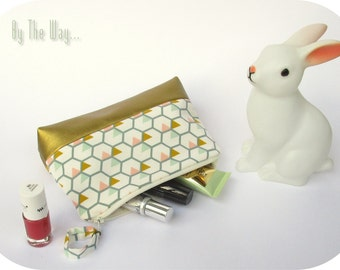Geometric Cosmetic bag  - makeup bag