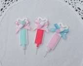 Glitter injections menhera hospital nurse brooch