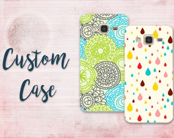 For Samsung Galaxy J3 2016 / Galaxy Amp Prime /Sol / Express Prime # Custom Photo Case Design Your Own Personalized Case, Monogrammed Phone