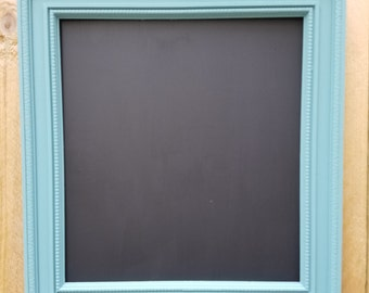 Repurposed Cascade Blue Picture Frame Chalkboard