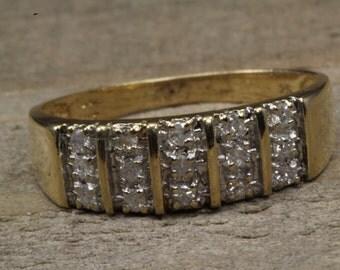 Estate, 10 Yellow Gold Diamond Ring