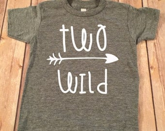 Two Wild Birthday Shirt, 2nd Birthday Shirt, 2nd Birthday Boy Shirt, Boys Birthday top, Birthday shirt, Second Birthday Boy Shirt