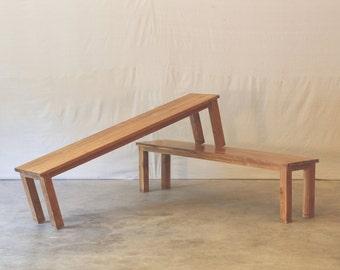 Teak Bench , Repurposed Barn Wood Teak