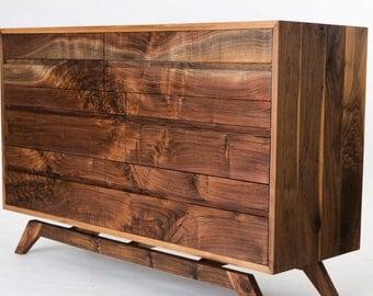 Mid Century Modern dresser walnut