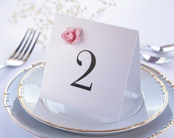 Floral Table Numbers, Wedding Table Numbers, Paper Flower Table Numbers, Wedding Table Decorations, Floral Wedding