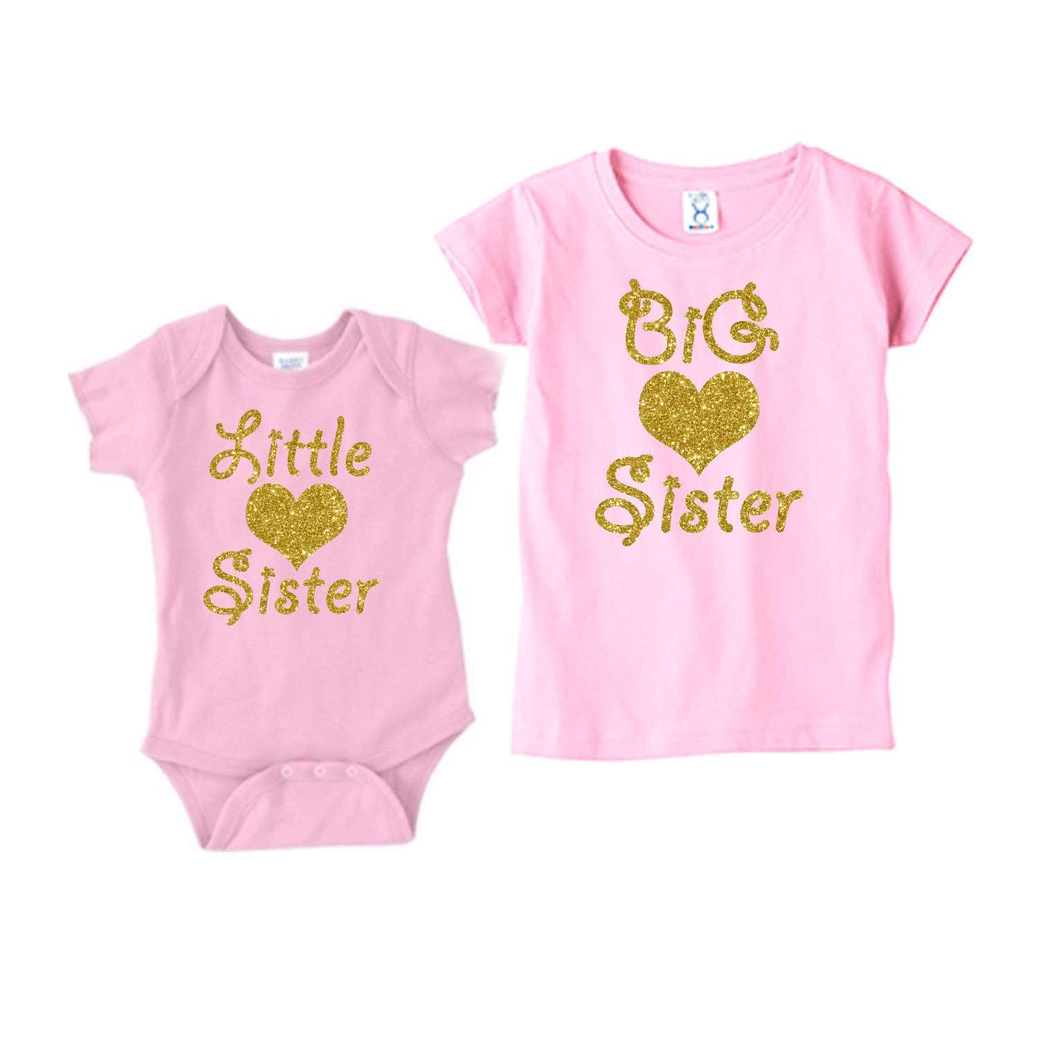 Size Romper Length Bust 2 Dress Length Age. Baby Girls Little Big Sister Outfits Clothes! Little Sister. Big Sister. Size T-shirt Length Bust 2 Dress Length Age.