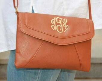 Monogrammed, personalized over shoulder tote, colors available.