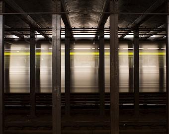 photo of subway car, New York City art, street photograph