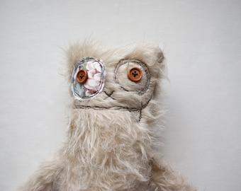Furry stuffed Monster, stuffed animal, fluffy monster, nursery toy, soft doll, cute monster, plush monster, plushie