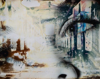 Train, Street Car, Man Ray, Tears, Abstract, Toledo, Multimedia, Trippy, Psychedelic, Fire, Double Exposure,